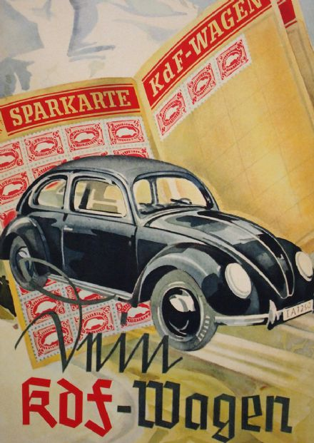Vintage Volkswagon Beetle KDF Wagon Car Print/Poster. Sizes: A4/A3/A2/A1 (003112)